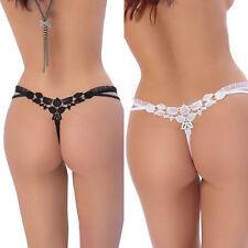 String sexy blanc ou noir femme ficelle fantaisie ROZA tailles S M L XL