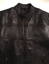 EUC>>Men's Red Line Leather Jacket>>Size XL>>Long Sleeve>>Zipper Pockets & Vents