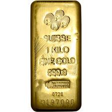 Kilo 32.15 oz Gold Bar - PAMP Suisse - Poured - 999.9 Fine with Assay