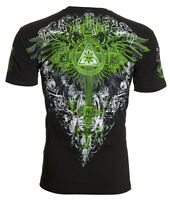 ARCHAIC by AFFLICTION Men T-Shirt AETERNO Cross Wings BLACK Tattoo Biker $40