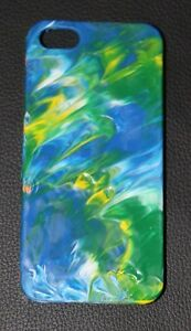 Handmade Apple Iphone 5 5s Snap-on case Glossy Multi-Color