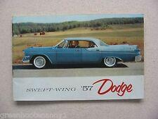 1957 Dodge Brochure/  Small Pocket Version