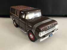 1959 Ford F-250 Pick-Up Brown with Camper 1/18 Road Signature