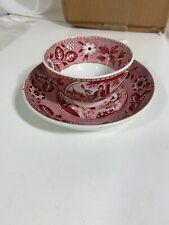 Atq Holland Maestricht Societe Ceramique Cup Saucer Plate Brown Xfer Tea Drinker