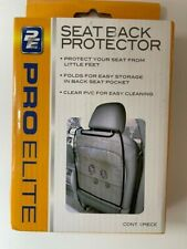 Pro-Elite Transparent Auto Seat Back Protector - Waterproof Car Seat Back