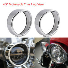 """4.5"""" Motorcycle Auxiliary Lights Trim Ring Visor for Harley Road King 1994-UP"""