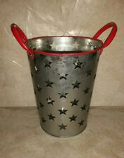 New Galvanized farmhouse industrial Star Cutout Olive Bucket