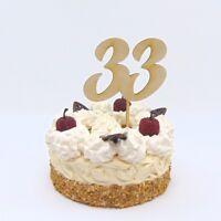 Zum 33. Geburtstag, Torten Zahl aus Holz, zum 35. Hochzeitstag, Cake Topper
