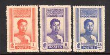 1941 Indo China SC 210-212 King Norodom Coronation Set of 3 - MNH NGAI**