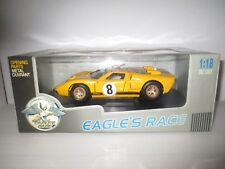FORD GT 40 MKII N°8 LE MANS 1996 GIALLA EAGLE'S RACE SCALA 1:18