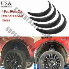 4 x890 Black Universal Exterior Fender Flares Flexible Car Body Kit Wheel Arches