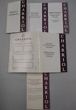 CHARRIOL Auto & Quartz Watch Instructions Catalog Service Diamond Cert Guarantee