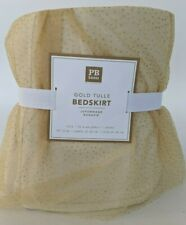 NWT Pottery Barn PB Teen Gold Tulle bed skirt, twin