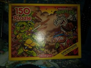 Teenage Mutant Hero Turtles Jigsaw Puzzle 150 Bebop and Rock SteadyVintage 89