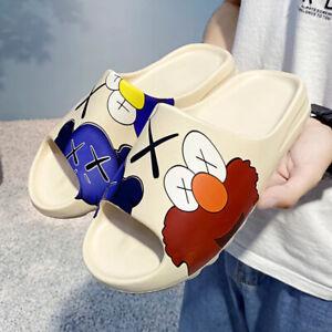2021 Cartoon Summer Slides Breathable Beach Sandals Flip Flops Mouth Men Women