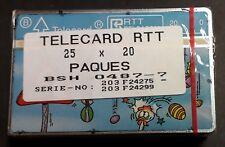 BELGIQUE PAQUET DE 25 TÉLÉCARTES 20 UNITÉS TELECARD RTT PÂQUES - NEUF RARE