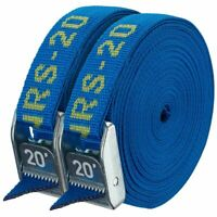 """NRS 1"""" HD Tie-Down Straps - Iconic Blue - 20' Pair"""