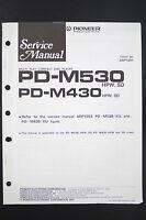 Pioneer PD-M530/M430 ORIGINALE LETTORE CD MANUALE DI SERVIZIO/ISTRUZIONI/