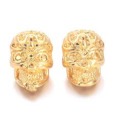 5 G CzechMates faisceau Perles Spacer trois trous 3x10mm Métallique Daim gold