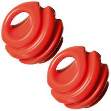 2er Set Hundeball Orange | Hunde Ball Spielball | Hundespielzeug Gummiball