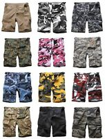 Mens Army Military Style BDU Work Shorts Street Casual Camo Cargo Shorts