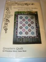 QUARTERS FOR THE TWINS FABRIC SEWING PATTERN PROJECT QUILT QUILTING BLOCK 49X62