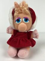 "Vintage Baby Miss Piggy 9"" Muppets Plush Stuffed Animal Red Hood McDonald's 1987"