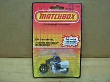 Vintage Nos 1983 Matchbox Police Motorcycle No 33 Cop Bike