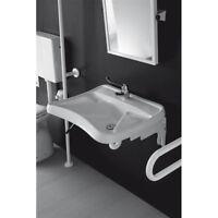Lavandino Lavabo Bagno Ergonomico per Disabili in ceramica bianco