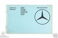Mercedes-Benz Owner's Manual 200E 230E/CE 250 *1235844282 *6550540302