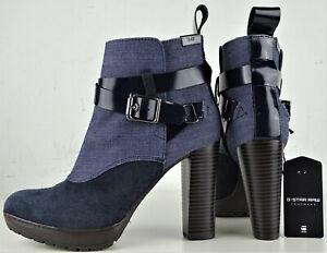 G-STAR RAW Chelsea Ankle Boots Stiefeletten Bootie Leder Denimblue Gr.37 NEU
