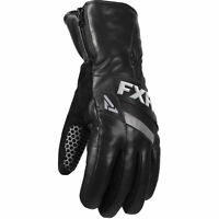 FXR Leather Short Cuff Snowmobile Glove Black