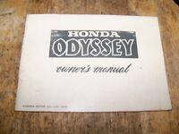 Honda 1976 Odessey Original Owners Manual