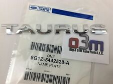 "2008-2009 Ford Taurus Rear Chrome ""TAURUS"" NAMEPLATE Emblem OEM 8G1Z-5442528-A"