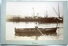PHOTO 1896 CATANE SICILE ITALIE LE PORT QUAI BARQUE BATEAUX CATANIA ITALIA j110