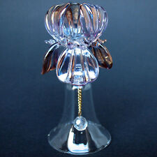 Iris Bell Figurine of Hand Blown Glass with 24K Gold