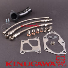 Kinugawa Turbo Oil Water Line Kit & Gasket Fit Mitsubishi 4G63T EVO 4-9 TD05HR