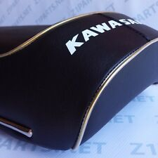 1969 Kawasaki H1 500 Complete Seat w/ Gold Piping Cover Brackets Latch #707