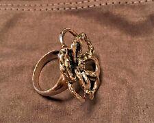 "Silpada R2784 ""Flower Power"" Sterling Silver Size 9 Flower Oxidized Ring New $99"