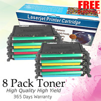 2 Set of 8PK CLP-660 Black Color Toner for Samsung CLP660 CLP610 CLX6200 CLX6210