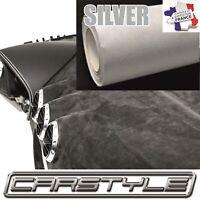 CARSTYLE SUEDINE-DAIM adhésif SILVER rouleau 142x20cm pose facile covering auto