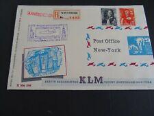 Nederland 418, 421 op fraaie brief 1e transatl vlucht KLM - New York 1946