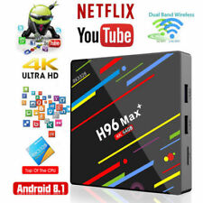 HOT H96 MAX+ 4K Lecteur multimédia Smart TV BOX Quad-Core 64GB Android 8.1 HDMI~