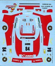 PORSCHE 924 N°84 CANON LE MANS 1982 CARTOGRAF DECALS 1/43