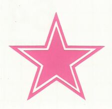 PINK Dallas Cowboys decal sticker various sizes up to 12 inches