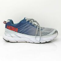 Hoka One One Womens Clifton 6 1102873 PAMB Blue Gray Running Shoes Size 7.5