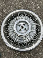 """1983 -1990 Lincoln Town Car  15"""" Wire SPOKE  Hubcap WHEEL COVER #7"""