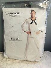 Adult White Nautical Marine Sailor Costume Deluxe Costume Underwraps Quality OS