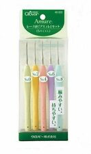 Trébol de Encaje Crochet Hooks Set 5 piezas 0.90-1.75mm Amure 43-323 Japón