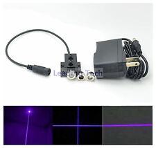 3in1 Dot/Line/Cross 405nm 50mW Violet-Blue Laser Module w/US Adapter w/ Heatsink